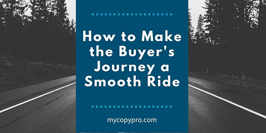 How to make the buyer's journey a smooth ride.