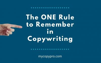 The Rule of ONE Copywriters Need to Remember